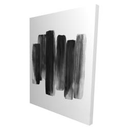 Canvas 36 x 48 - 3D - Black shapes