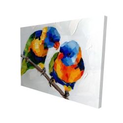 Canvas 36 x 48 - 3D - Couple of parrots