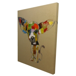 Canvas 36 x 48 - 3D - Abstract colorful chihuahua