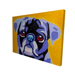 Canvas 36 x 48 - 3D - Flash the pug