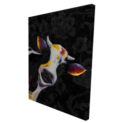 Canvas 36 x 48 - 3D - Funny cow
