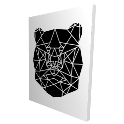 Canvas 36 x 48 - 3D - Geometric bear head