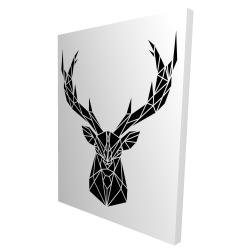 Canvas 36 x 48 - 3D - Geometric deer head