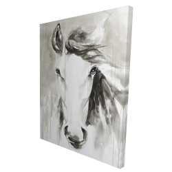 Canvas 36 x 48 - 3D - Beautiful abstract horse