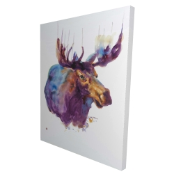 Canvas 36 x 48 - 3D - Abstract moose