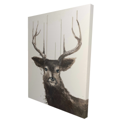 Canvas 36 x 48 - 3D - Abstract deer