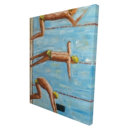 Canvas 36 x 48 - 3D - Swimmers