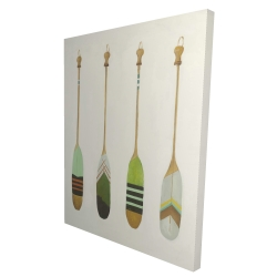 Canvas 36 x 48 - 3D - Colorful nautical oars