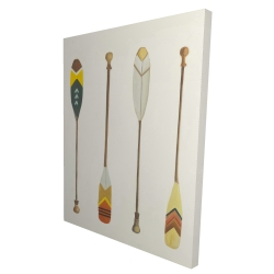 Canvas 36 x 48 - 3D - Canoe paddles