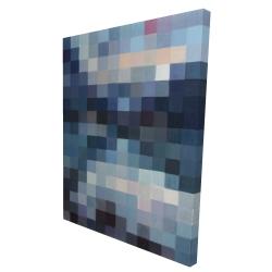 Canvas 36 x 48 - 3D - Pixelated mountainous landscape