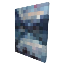 Canvas 36 x 48 - 3D - Pixelated mountainous landscape