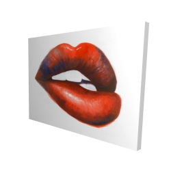 Canvas 36 x 48 - 3D - Beautiful red mouth