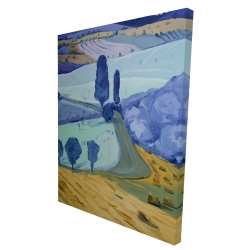 Canvas 36 x 48 - 3D - Tuscany field