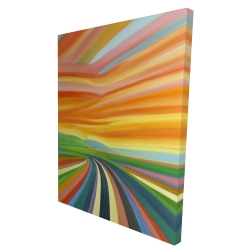 Canvas 36 x 48 - 3D - Colorful road