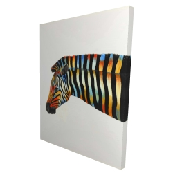 Canvas 36 x 48 - 3D - Colorful zebra