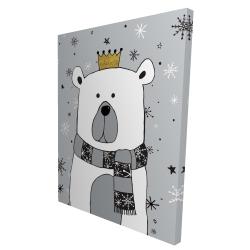 Canvas 36 x 48 - 3D - Beautiful bear