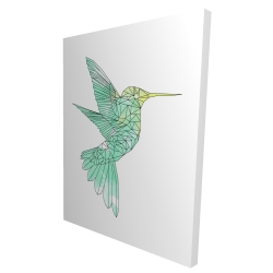 Canvas 36 x 48 - 3D - Geometric hummingbird
