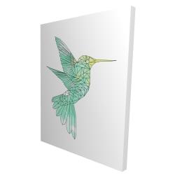 Canvas 36 x 48 - 3D - Geometric hummingbird