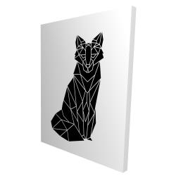 Canvas 36 x 48 - 3D - Geometric fox