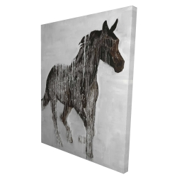 Canvas 36 x 48 - 3D - Abstract brown horse