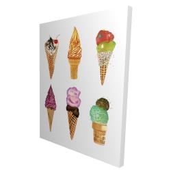 Canvas 36 x 48 - 3D - Ice cream cones