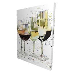 Canvas 36 x 48 - 3D - Beautiful wine glasses
