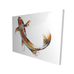 Canvas 36 x 48 - 3D - Butterfly koi fish