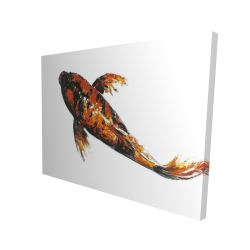 Canvas 36 x 48 - 3D - Red butterfly koi fish