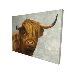 Canvas 36 x 48 - 3D - Highland cattle