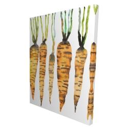 Canvas 36 x 48 - 3D - Watercolor carrots