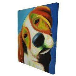 Canvas 36 x 48 - 3D - Colorful beagle dog