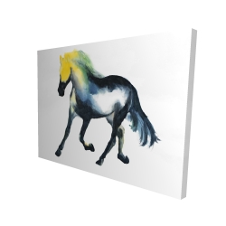 Canvas 36 x 48 - 3D - Galloping colorful horse