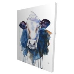 Toile 36 x 48 - 3D - Vache à l'aquarelle