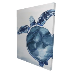 Canvas 36 x 48 - 3D - Blue turtle