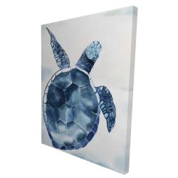 Canvas 36 x 48 - 3D - Blue turtle