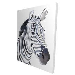 Canvas 36 x 48 - 3D - Watercolor zebra