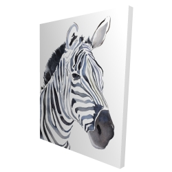 Canvas 36 x 48 - 3D - Watercolor zebra
