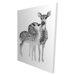 Canvas 36 x 48 - 3D - Fawns love