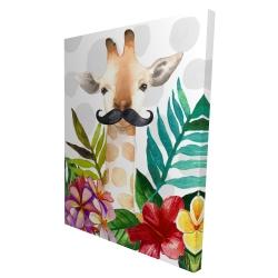 Canvas 36 x 48 - 3D - Exotic giraffe