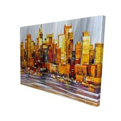 Canvas 36 x 48 - 3D - Orange buildings