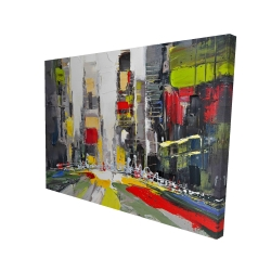 Canvas 36 x 48 - 3D - Abstract texturized cityscape