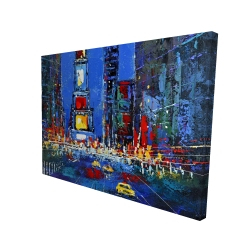 Canvas 36 x 48 - 3D - Colorful and abstract times square by night