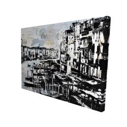 Canvas 36 x 48 - 3D - Abstract venise port