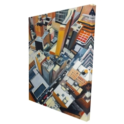 Canvas 36 x 48 - 3D - High top view of buildings in new york