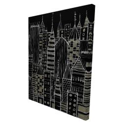 Canvas 36 x 48 - 3D - Illustrative dark city