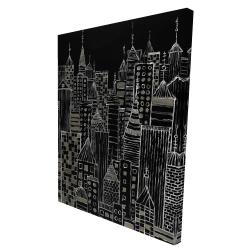 Canvas 36 x 48 - 3D - Illustrative city towers