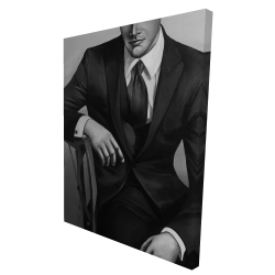 Canvas 36 x 48 - 3D - Businessman