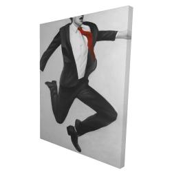 Canvas 36 x 48 - 3D - Happy classic man