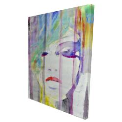 Canvas 36 x 48 - 3D - Abstract colorful portrait