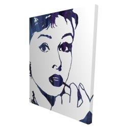 Canvas 36 x 48 - 3D - Audrey hepburn: cigarillo